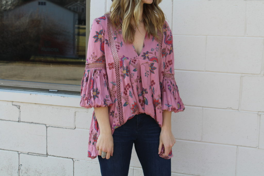 43573d291f1 This floral tunic is from Free People. Floral is a fun trend this season  and flowy tunics are perfect for jeans or shorts! This tunic just screams  spring to ...